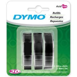 Dymo Caption Maker Black Tape Refills (Pack of 3)