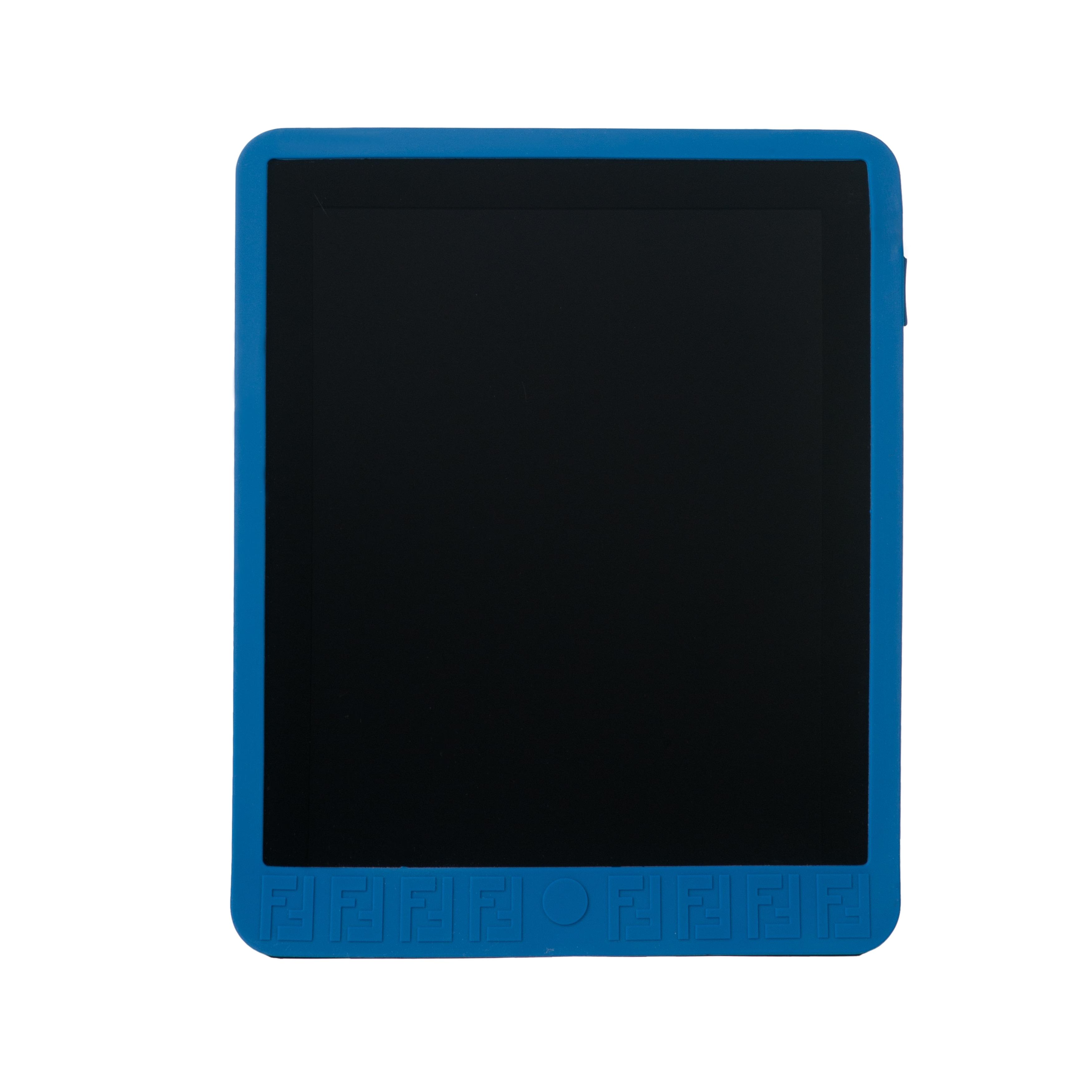 Fendi Royal Blue Zucchino Rubber iPad Case for iPad 1