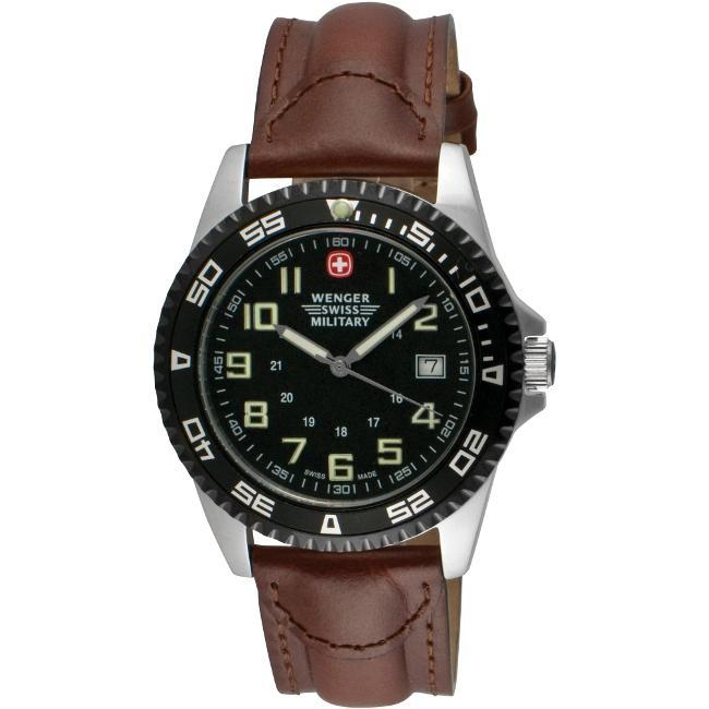 Wenger Men's 'Sport VII' Black Dial Watch