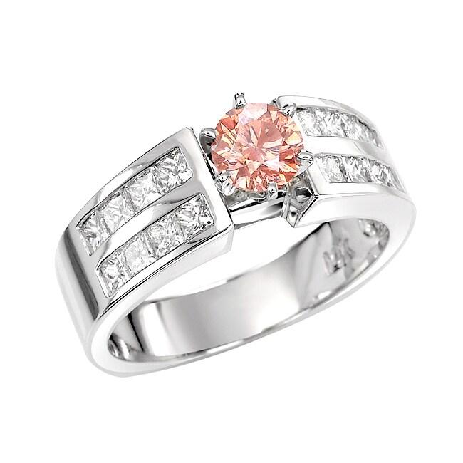 14k White Gold 1 1/2ct TDW Pink and White Diamond Ring (G, SI2)