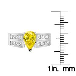 14k White Gold 2 1/10ct TDW Yellow and White Diamond Ring (G, SI2)