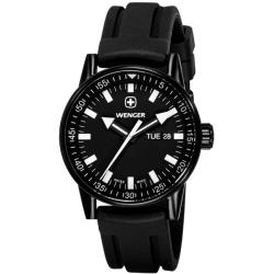 Wenger Men's 'Commando' Day Date XL Black Dial Watch