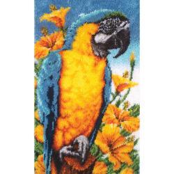 Wonderart Tropical Macaw 30x50 Latch Hook Kit