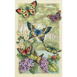 Gold Collection Butterfly Forest Cross Stitch Kit | Overstock.com