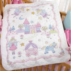 Bucilla 'Princess' Crib Cover Stamped Cross Stitch Kit