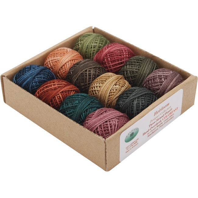 Hand Overdyed Perle Size 8 Cotton Balls (Pack of 12)