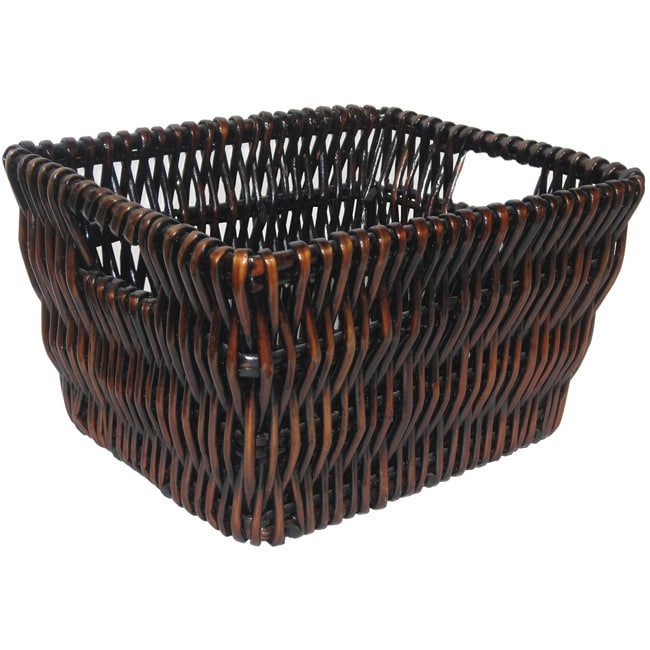 Medium Mocha Wicker Basket