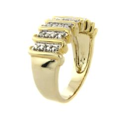 Finesque 14k Gold Overlay Diamond Accent 'S' Design Ring