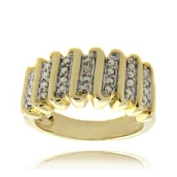 Finesque 14k Gold Overlay Diamond Accent &#39;S&#39; Design Ring