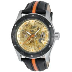 Akribos XXIV Men's Skeleton Automatic Strap Watch