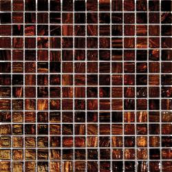 Glass Brown Irridisccent 4-mm Mosaic Tile (Case of 20)
