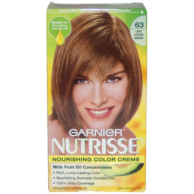 Health and Beauty by O Garnier Nutrisse #63 Light Golden Brown Nourishing Color Creme at Sears.com