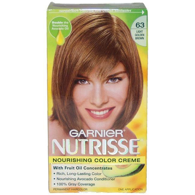 Garnier Nutrisse  63 Light Golden Brown Nourishing Color CremeLight Brown Hair Dye Garnier