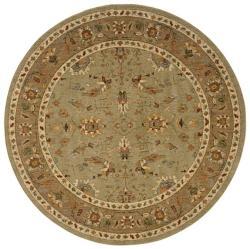 Berkley Green/ Tan Traditional Area Rug (7'8 Round)