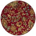 Berkley Red/ Green Transitional Area Rug (7'8 Round)