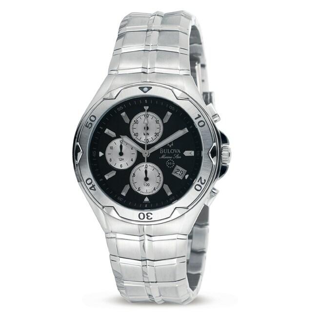 Bulova Mens Marine Star Stainless Steel Chronograph Watch