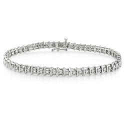 Sterling Silver 1ct TDW Diamond Tennis Bracelet (G-H, I2-I3)