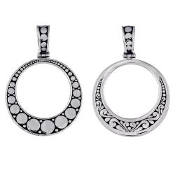 Sterling Silver Open Circle Pendant (Indonesia)
