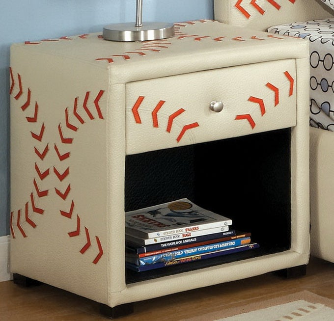 Furniture of America Baseball-themed Designed Nightstand