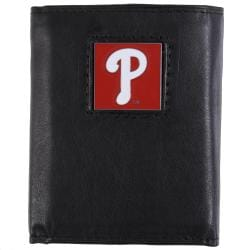Philadelphia Phillies Men's MLB Genuine Leather Tri-fold Wallet