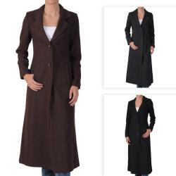 Adi Designs Junior's Full Length Wool Blend Coat
