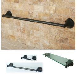 Oil Rubbed Bronze 3-piece Shelf and Towel Bar Bathroom Accessory Set