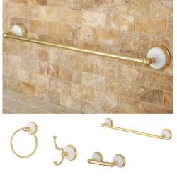 Polished Brass 4-piece Bathroom Accessory Set