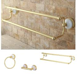 Polished Brass 3-piece Bathroom Accessory Set