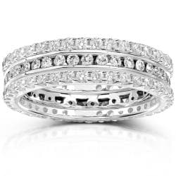 14k Gold 1 1/2ct TDW Diamond 3-piece Stackable Eternity Ring Set (H-I, I1-I2)