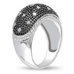 Miadora Sterling Silver 3/8ct TDW Diamond  Ring (G-H, I3)