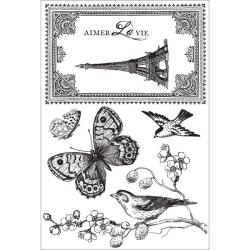 Kaisercraft 'Bonjour' Clear Stamps
