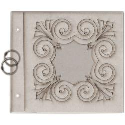 Fabscraps 'Heritage Collection Twirls' Die-cut Grey Chipboard Album