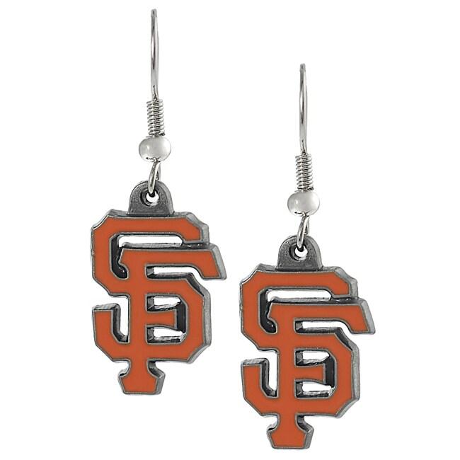Silvertone San Francisco Giants Dangle Earrings