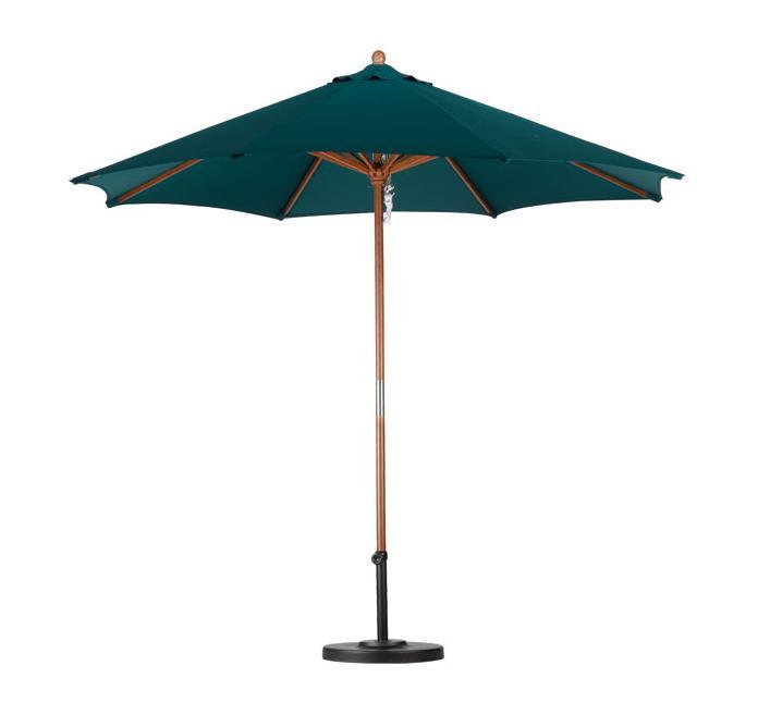 Lauren & Company Premium 9-foot Hunter Green Patio Umbrella with Base