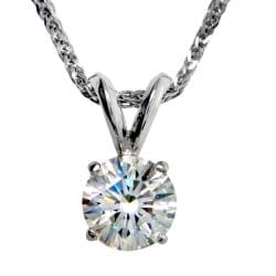 14k White Gold 7/8ct TDW Certified Clarity-enhanced Diamond Necklace (G, SI1)