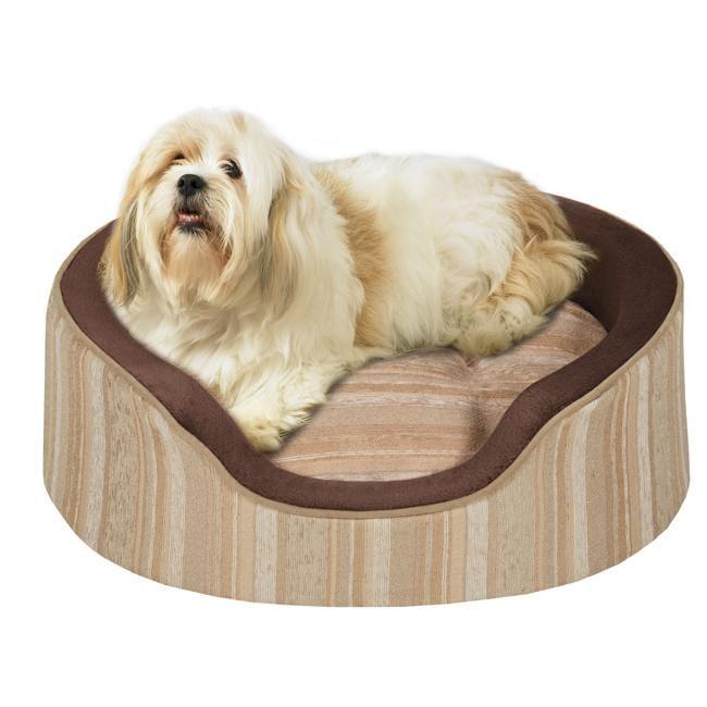 Soft Touch Sand ShowOff Medium Jacquard Oval Cuddler Pet Bed