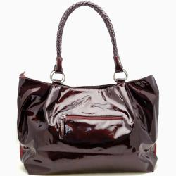 Dasein Faux Leather Patched Shoulder Bag
