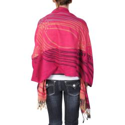 Adi Designs Women's Floral Pattern Fringed Fashion Shawl