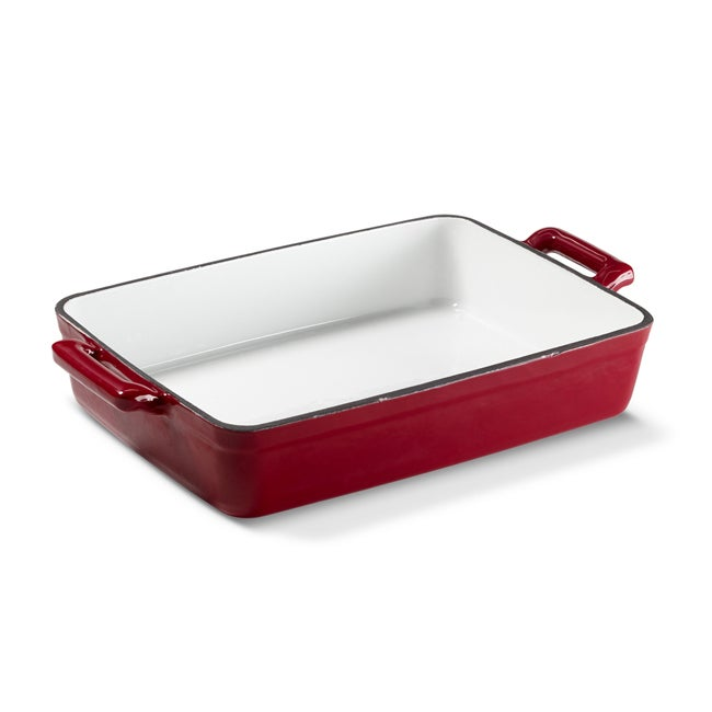 Sabatier Red Cast Iron Baking Pan