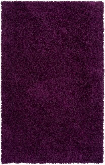 Expertly Woven Flin Purple Super Soft Shag Rug (8' x 10')