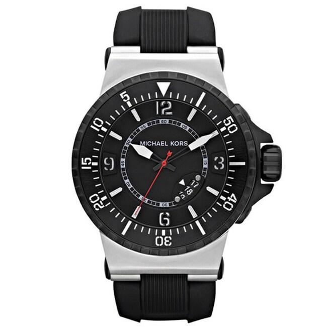 Michael Kors Men's Black Rubber Strap Analog Watch