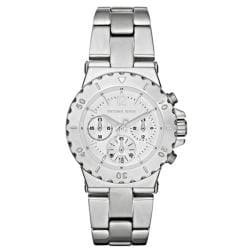 Michael Kors Women's MK5498 Silver Stainless-Steel Analog Quartz Watch with Silver Dial