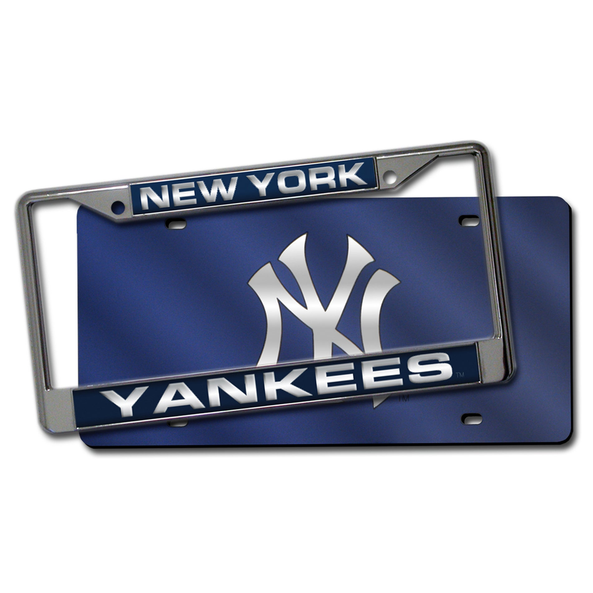 New York Yankees Laser Cut License Plate Pack