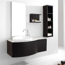 Agatha 48-inch Single-sink Bathroom Vanity Set in Espresso Finish