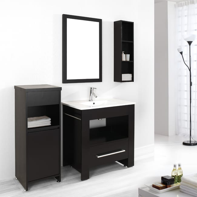 Virtu USA Lexi 32 Inch Single Sink Bathroom Vanity Set 13875916 Overstock