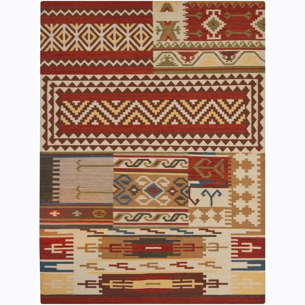 Hand-made Flat-weave Mandara Rug (7' x 10')