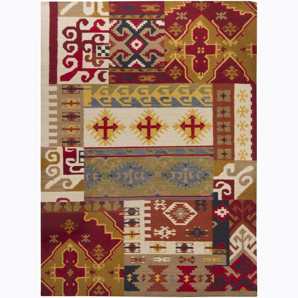 Handmade Flat-Weave Mandara Indoor Rug (7' x 10')