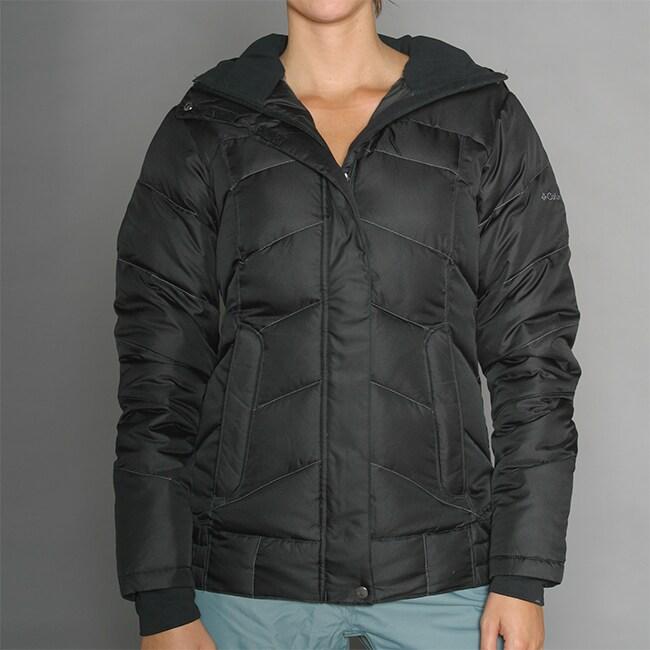 6749388348 Columbia Womens Bugapuff Black Down Ski Jacket