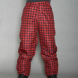 Pipeline Men's Park Check Red Snowboard Pants