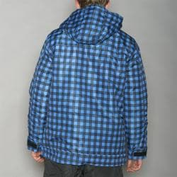 Pipeline Men's Park Check Blue Snowboard Jacket